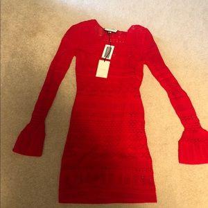 Alexis knit red dress XS